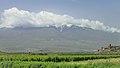2014 Prowincja Ararat, Widok na Wielki Ararat i klasztor Chor Wirap (01).jpg