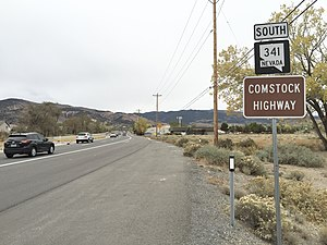 Nevada State Route 341 - View from the north end of SR 341 looking southbound