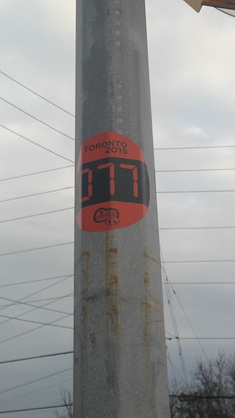 2015 Pan American Games torch relay - One of the many torch relay route markers