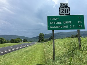 U.S. Route 211 - View east along US 211 in Shenandoah County