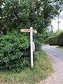 2018-07-11 Finger post direction sign, Southrepps circular walk, Norfolk.JPG