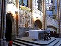 221 Santuari de la Misericòrdia (Canet de Mar), presbiteri i escala d'accés al cambril.JPG