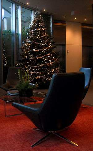 300px 22 West   lobby during Christmas interior designers