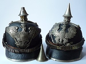 Boiled leather - German pickelhaube, c. 1860