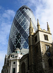 2004 - 30 St. Mary Axe, London by Sir Norman Foster