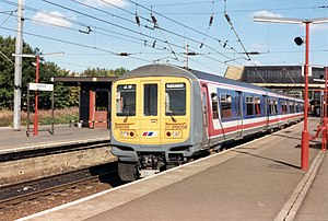British Rail Class 319 - A Network SouthEast Class 319/0 No. 319058 at Bedford