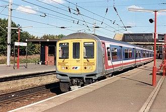 British Rail Class 319 - A Network SouthEast Class 319/0 No. 319058 at Bedford
