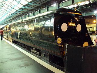 preserved British 4-6-2 locomotive
