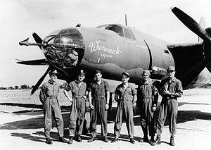 RAF Chipping Ongar - Image: 387th Bombardment Group Crew of Martin B 26 Marauder Wuneach