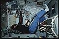 41B-05-153 - STS-41B - Mission Specialist Ronald McNair loads food trays during meal preparation - DPLA - 817d26fbcbac0942eb4349cdb4b75646.jpg