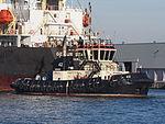 42 (tugboat, 2012) towing Genius Star through the Port of Antwerp pic2.JPG