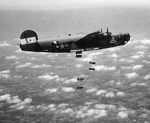 492d Special Operations Wing - Group B-24 on a mission over Nazi Occupied Europe.