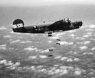 RAF Harrington -  Black Painted B-24 Liberator, on a mission over Nazi Occupied Europe.