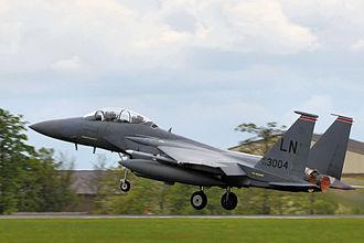 494th Fighter Squadron - Squadron F-15 Eagle taking off
