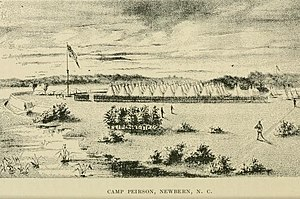 5th Regiment Massachusetts Volunteer Militia - The 5th Massachusetts at Camp Peirson, New Bern, North Carolina, 1863