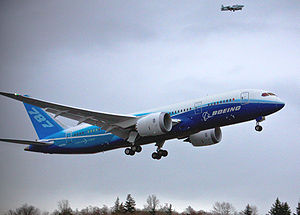 Maiden flight - Boeing 787 on December 15, 2009