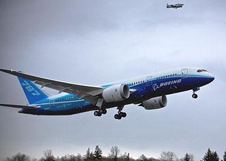 Maiden flight - Boeing 787 on December 15, 2009