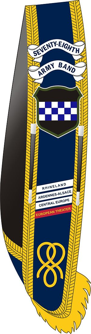 78th Army Band - Drum major baldric