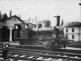 SCB 80, later NS 7802, te Bazel omstreeks 1900.