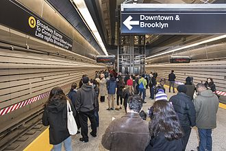 Second Avenue Subway - Opening day at 86th Street