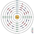 93 neptunium (Np) enhanced Bohr model.png