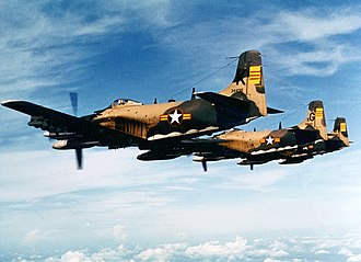 Attack aircraft - An A-1 Skyraider of the Republic of Vietnam Air Force