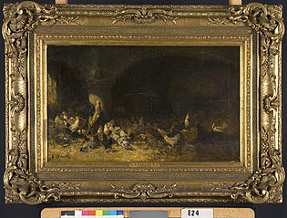 Rooster with Chickens