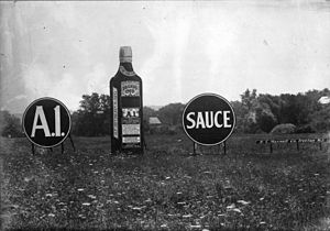 A.1. Sauce - A.1. Sauce advertising signs, 1916