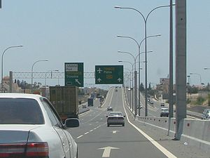 English: A6 Motorway towards Paphos Photo take...