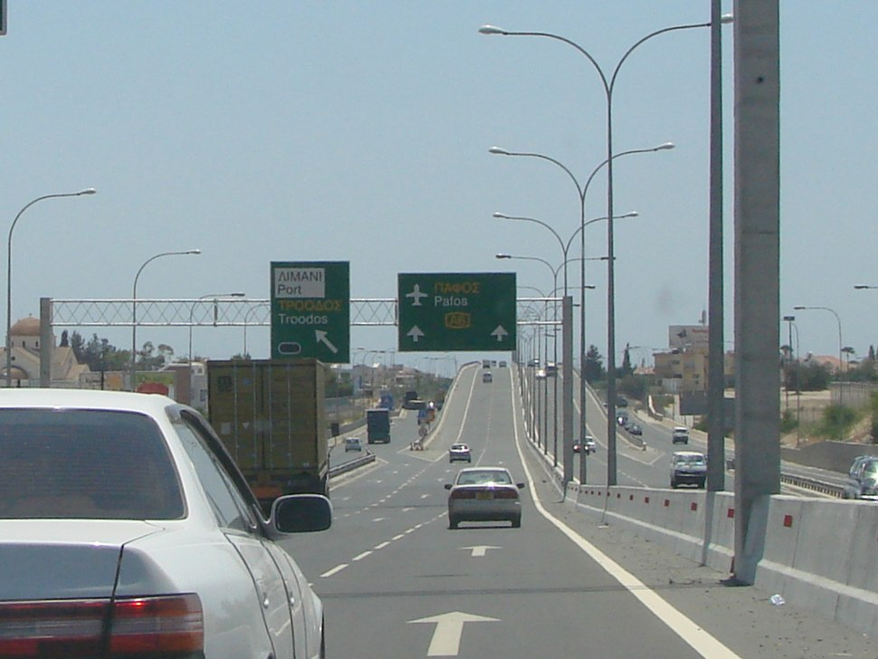 A6 Motorway Cyprus towrds Paphos