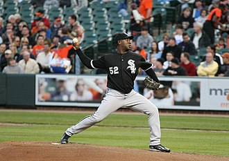 José Contreras - Contreras pitching for the White Sox in 2008