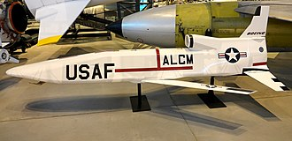 AGM-86 ALCM - An AGM-86A on display at the National Air and Space Museum in 2004.