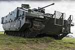 AJAX Armoured Vehicle at a 3 Div Combined Arms Manoeuvre Demonstration MOD 45161420.jpg