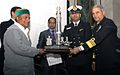 AK Antony, Defence Minister awarding Trophy to Indian Navy for being the 'Best Marching Contingent' at 64th 'Republic Day Parade at New Delhi.jpg