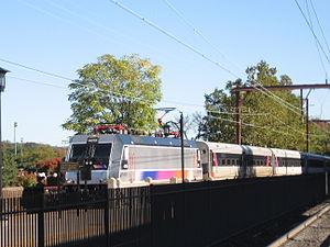 ALP-46 - Image: ALP 46 with NJ Transit Midtown Direct Service entering South Orange, NJ