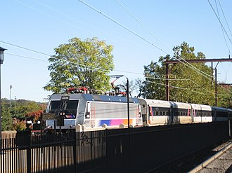 ALP-46 - Image: ALP 46 with NJ Transit Midtown Direct Service entering South Orange, NJ
