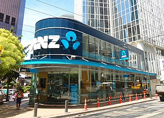 ANZ Bank New Zealand - ANZ Branch on Lambton Quay, Wellington