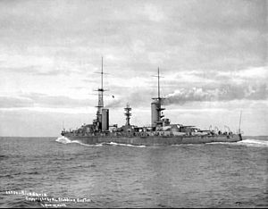 Rivadavia-class battleship - Rivadavia on its speed trials