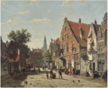 A Sunny Street With a Distant Church Tower.png