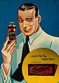 A man holding a tube of Bubisan brilliantine for the hair. Wellcome V0047588ER.jpg