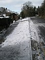 A snowy pavement in Ridgemount - geograph.org.uk - 1153595.jpg