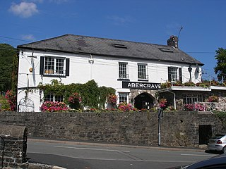 Abercraf village in the county of Powys, Wales