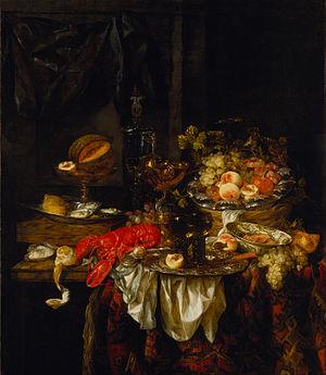 Abraham van Beijeren - Banquet still life