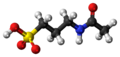 Acamprosate molecule ball.png