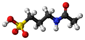 Acamprosate - Image: Acamprosate molecule ball