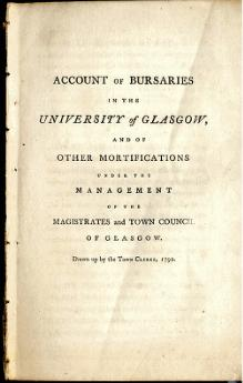 Account of Bursaries in the University of Glasgow, 1792.djvu