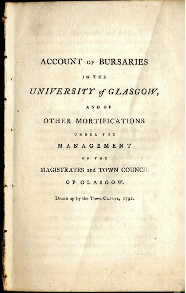 File:Account of Bursaries in the University of Glasgow, 1792.djvu