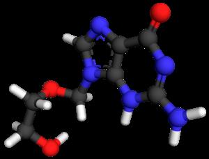 Aciclovir ball-and-stick 2KI5.png