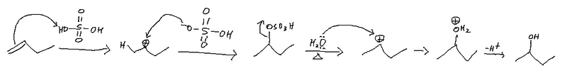 Addition reaction of sulfuric acid.png
