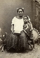 Adi Arieta Kuila and her boy Timoce, photograph by Dufty.jpg